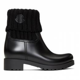 Moncler Black Ginette Boots 192111F11400209GB