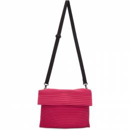 Homme Plisse Issey Miyake Red and Pink Pleats Flat Bag 192729M17000201GB