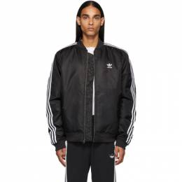 Adidas Originals Black Padded Bomber Jacket 192751M17500302GB