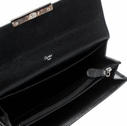 Cartier Black Leather Love Continental Wallet 208925
