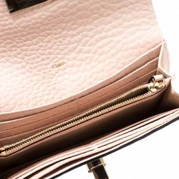 Chloe Blush Pink Leather Sally Wallet 210803