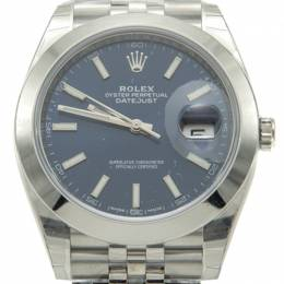 Rolex Blue Dial Steel Date Just Jubilee Men'S Watch 41 MM 211617