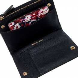 Michael Kors Multicolor Floral Begonia Leather Compact Wallet 208502