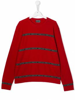 Young Versace - TEEN branded stripe jumper 66995YA6605995065555