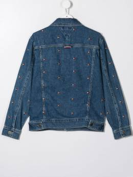Tommy Hilfiger Junior - TEEN logo embroidered denim jacket KS666899505939300000
