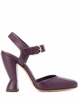 Salvatore Ferragamo - sculptural heel mary jane sandals 65666866595995996000