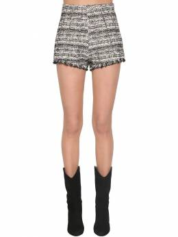 Cotton Blend Tweed Shorts W/studs Giambattista Valli 70IA4A005-MTU1Ng2