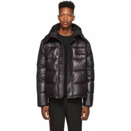 Kenzo Black Shiny Nylon Down Jacket 192387M17800502GB