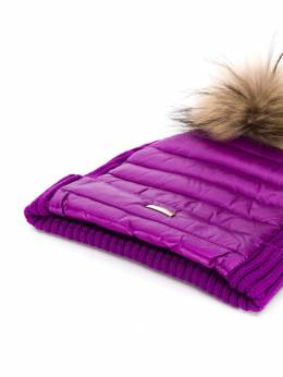 Herno Kids - fur-trimmed feather down hat 669G9069395055366000