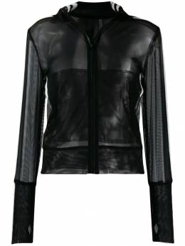Norma Kamali - side stripe sheer zipped jacket 095PM665959950338990