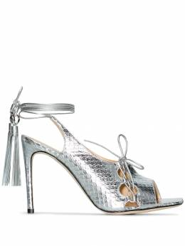 Liudmila - metallic 100 lace-up sandals PSLINGSANDAL966METAL