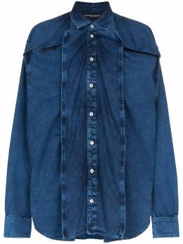 Y/Project - oversized button-down denim shirt RT05AS93D69933395590