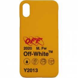 Off-White Yellow Industrial Y2013 iPhone X Case 192607F03202101GB
