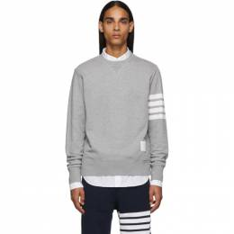 Thom Browne Grey 4-Bar Classic Sweatshirt 192381M20400104GB