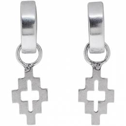 Marcelo Burlon County Of Milan Silver Cross Earrings 192539F02200201GB