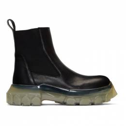 Rick Owens Black and Transparent Tractor Beetle Boots 192232M22300209GB
