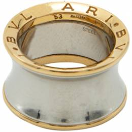 Bvlgari 18K Rose Gold & Steel B.Zero1 Anish Kapoor Ring Size 53 211875