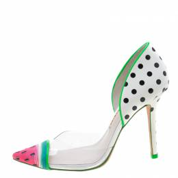 Sophia Webster Multicolor PVC and Leather Jessica Watermelon Pumps Size 38 211010