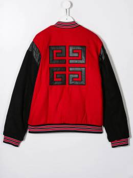 Givenchy Kids - contrast sleeve bomber jacket 655M9995086996000000