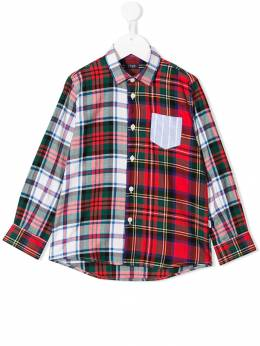 Il Gufo - contrasting checked shirt CL965C39699505563900