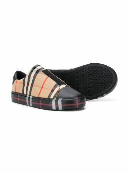 Burberry Kids - archive check sneakers 69599508086000000000