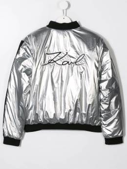 Karl Lagerfeld Kids - sheen effect bomber jacket 66695089335000000000