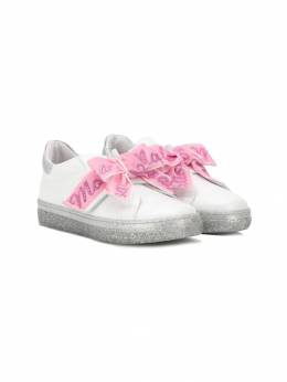 Monnalisa - bow front slip-on sneakers A358C566853909999950