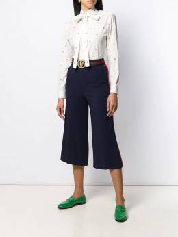 Gucci - Viscose culotte trousers with Web 669ZKR69950869990000