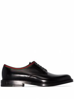 Gucci - Beyond web-trimmed derby shoes 359AZM36959065330000