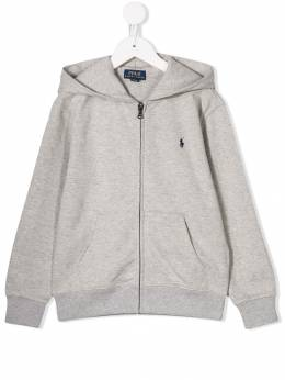 Ralph Lauren Kids - embroidered logo zip-up hoodie 33386095063666000000