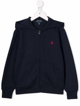 Ralph Lauren Kids - embroidered logo zip-up hoodie 33386095063655000000