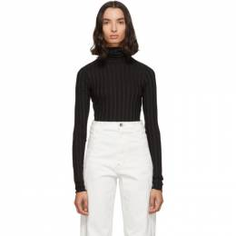 Simon Miller Black Ribbed Rico Turtleneck 192708F09900202GB
