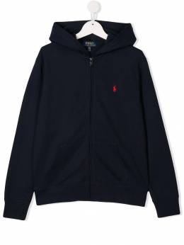 Ralph Lauren Kids - TEEN embroidered logo zip-up hoodie 33386095063650000000