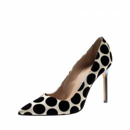 Manolo Blahnik Beige And Black Polka Dots Pumps Size 39 211230