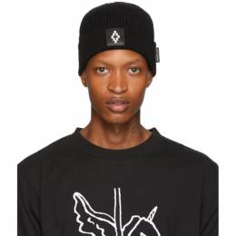 Marcelo Burlon County Of Milan Black Logo Beanie 192539M13800201GB