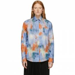 Rokh Multicolor Tie and Dye Mismatch Shirt 192151F10900104GB