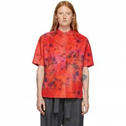 Rokh Red Tie and Dye Short Sleeve Shirt 192151F10900204GB
