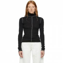 Ann Demeulemeester SSENSE Exclusive Black Lucian Turtleneck 192378F09900703GB