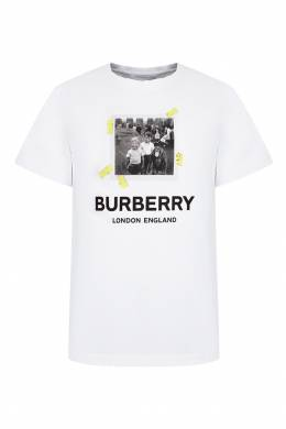 Футболка с принтом в виде фотографии Burberry Kids 1253143705