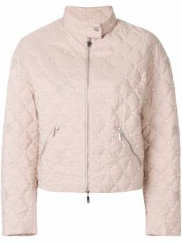 Moncler - cropped quilted jacket 33656595590393999000
