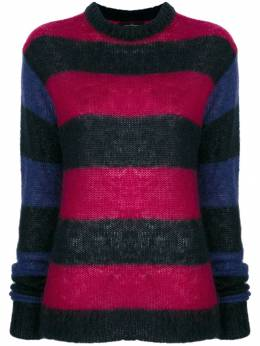 Rokh - elongated sleeves striped jumper A6593093393000000000