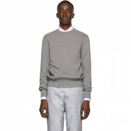 Thom Browne Grey Variegated Rib Airmail Sweater 192381M20101206GB