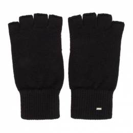 Saint Laurent Black Wool Fingerless Gloves 192418M13500102GB