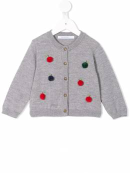 Familiar - pompom-embellished cardigan 05693653396000000000