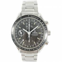 Omega Black Stainless Steel Speedmaster Triple Calendar Mark40 Cosmos 3520.50 Men's Wristwatch 38MM 215753