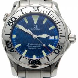Omega Electric Blue Stainless Steel Seamaster Professional Midsize Watch 36MM 213294