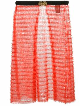 Tu es mon TRÉSOR - sheer layered apron skirt W6699306668500000000
