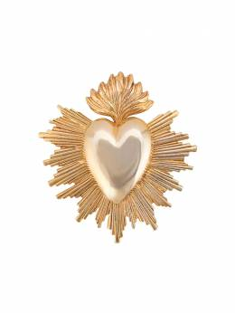 Oscar de la Renta - heart-shaped brooch J366GOL9596336900000