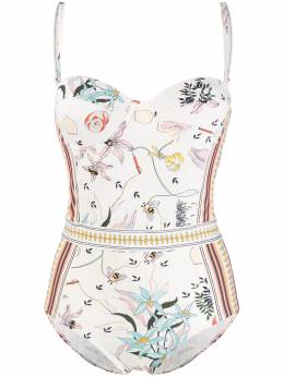 Tory Burch - floral print swimsuit 33953056850000000000