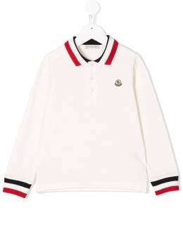 Moncler Kids - striped trim polo shirt 69658563093935309000